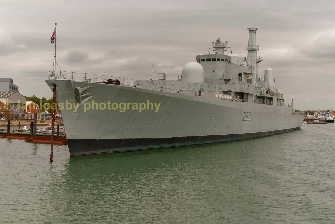 Type 82 destroyer HMS bristol, training and accomdation vessel