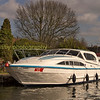 Norfolk broads holiday cruiser