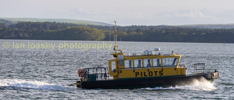 Poole harbour pilots boat at Sandbanks poole harbour