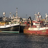 fishing boats in peterhead harbour