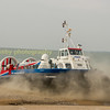 Hovercraft crossing a beach at Lee - on - Solent