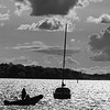 Going home after a day on the water at bramble bush bay Poole harbour