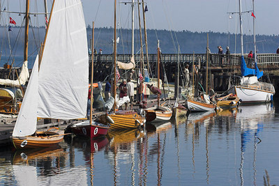Several of the boats from the raid in Port Townsend.