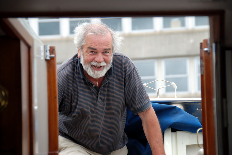 John Ryan, Skipper of 'Rapport' and Commodore of mini-CIC to Dingle with 'Besie' (Shane & Alice Ward) and 'Arthur' (Paul Scannell & Mary Healy). The three boats departed Limerick on Mon, August 4th, 2008.