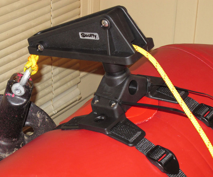 Scotty anchor davit, rear view.