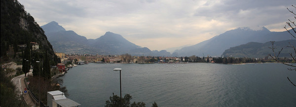 A panoramic view of Riva del Garda from the hills just outside Riva.