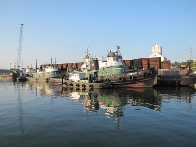Selvick tugs in Sturgeon Bay's west side dock