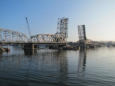 The historic Michigan Street Bridge in Sturgeon Bay