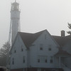 The Sturgeon Bay Coast Guard Station and lighthouse.