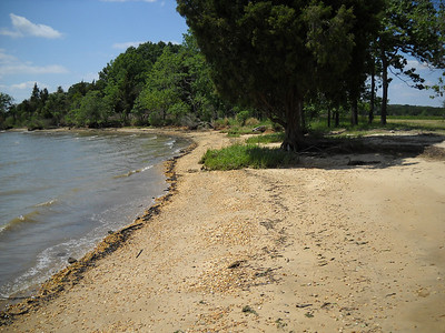 The beach where we can launch smaller boats from the water.