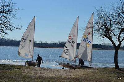 Lasers, Opti's, and smaller one-design boats are launched from our sandy beach.