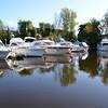 Saturday Morning: Cruising Club boats moored in Ballinasloe Marina.