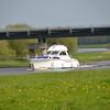 Celtic Princess passes under the Bord-na-Mona bridge with plenty of room to spare!
