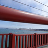 View from the center of the Golden Gate Bridge looking towards San Francisco. I am standing about 270' above the water.
