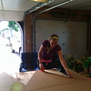 Measuring the cardboard and cutting out the pattern