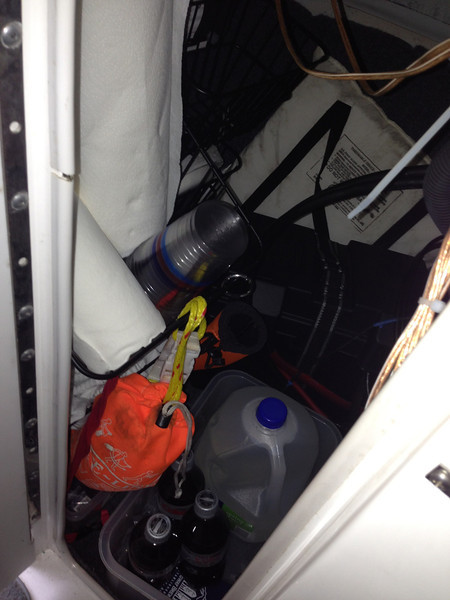 Storage, access to audio amps, access to helm electronics and steering.