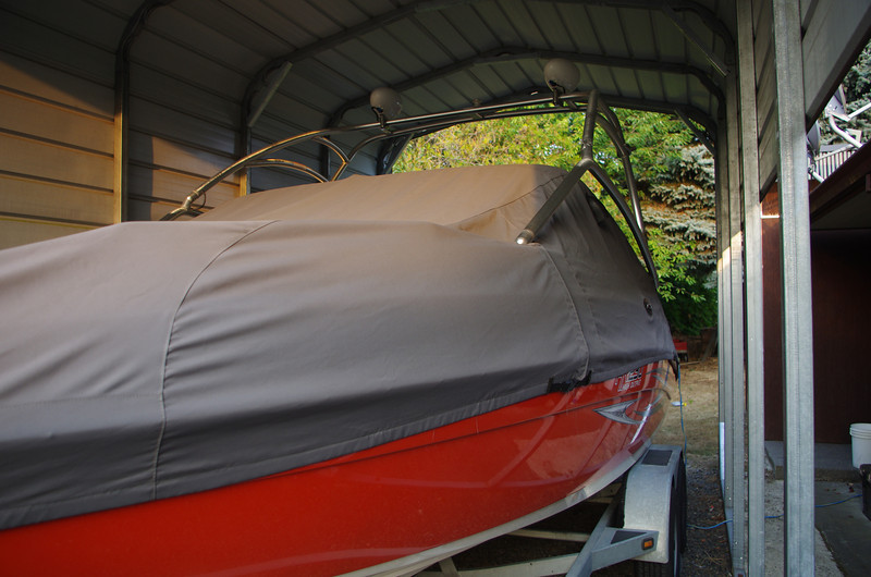 Moorage cover. Boat always kept under covered storage.