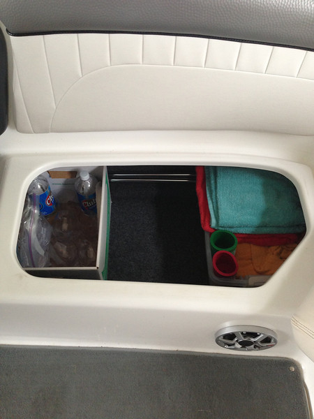 Roomy storage compartment.