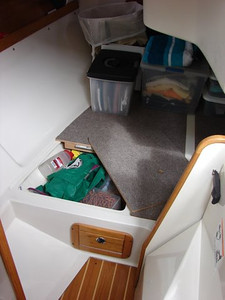 Aft Berth/Storage Area (Cushions Stored Off Boat)