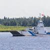 Barge Niska I approaching ramp.