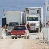 Starting to unload vehicles barge Niska I.