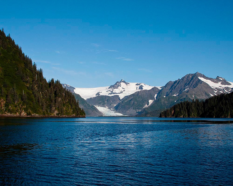 The view from our anchorage in Coleman Bay.