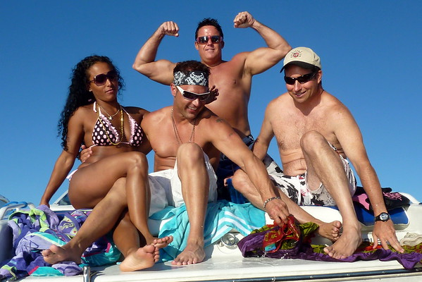 All White Party Woodinville & Boating Juanita Bay w Mike Lisa Joe Mark