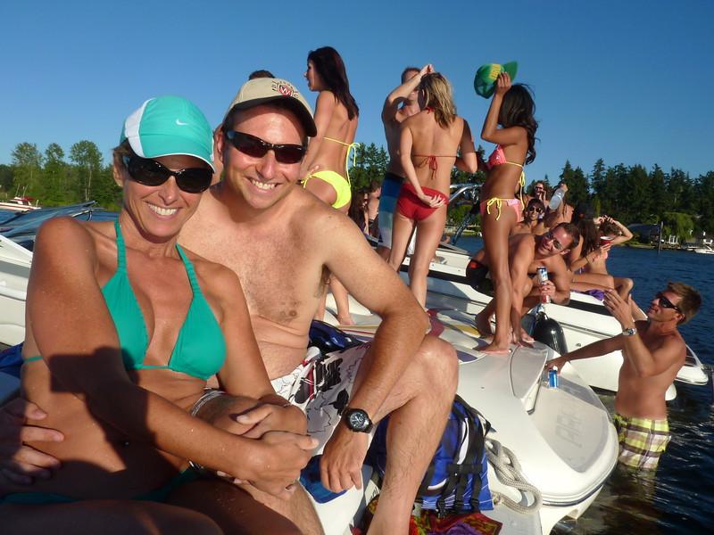 White Party Woodinville Boating Mike Lisa Joe Mark 109