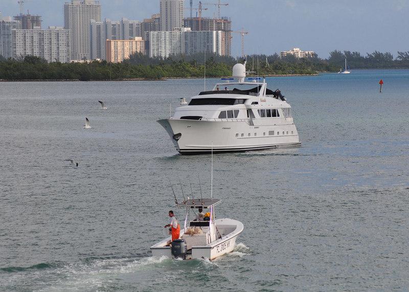 Big boat on Intracoastal at Bay Harbor Is.