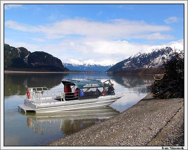 """SPRINGTIME AT STIKINE RIVER"", April 12,05, Alaska, USA.-----""JARO NA RECE STIKINE""."