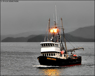 """F/V MISS SUSAN"",returning to Wrangell,Alaska,USA."