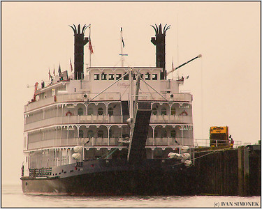 """END OF SEASON"", repaired and repainted Empress of the North at  Wrangell, Alaska, USA."