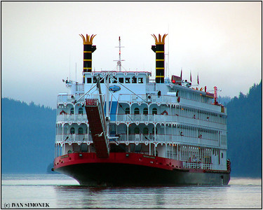 """EMPRESS OF THE NORTH 1"",a tour ship near Wrangell, Alaska, USA."