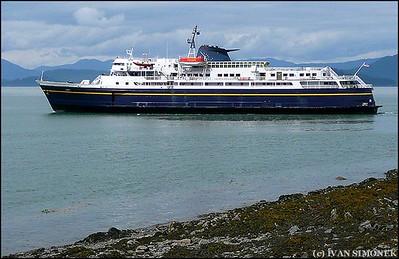 """""""AMH FERRY TAKU"""",departing Wrangell,Alaska,USA."""