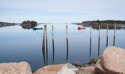 Two Girls and Another Chance, lobster boats in Lubec, Maine