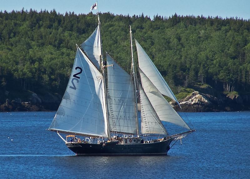 Two masted schooner, Small  Point Harbor, Casco Bay, Phippsburg Maine