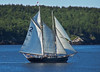 Two masted schooner, Small  Point Harbor, Casco Bay, Phippsburg Maine