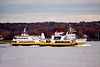 Casco Bay Line ferries, the Maquoit II on the right, Portland Harbor, Casco Bay, Maine, October