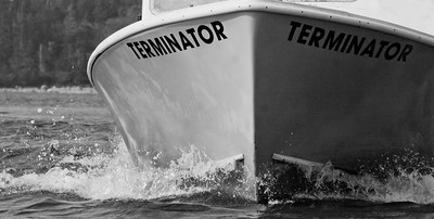 Terminator Lobster boat steaming into port, Phippsburg, Maine    For more Phippsburg, Maine historical information visit https://www.facebook.com/pages/PhippsburgHistory-Center/114338978642314