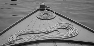 bow of Westpointer, a wooden boat made in Phippsburg, with elegantly laid lines. study in Black and White. For more Small Point One Design boats and races, visit the Boats - Small Point One Design gallery at http://www.robinrobinsonmaine.com/Boats/SMALL-POINT-ONE-DESIGN/14015115_MsX7vn