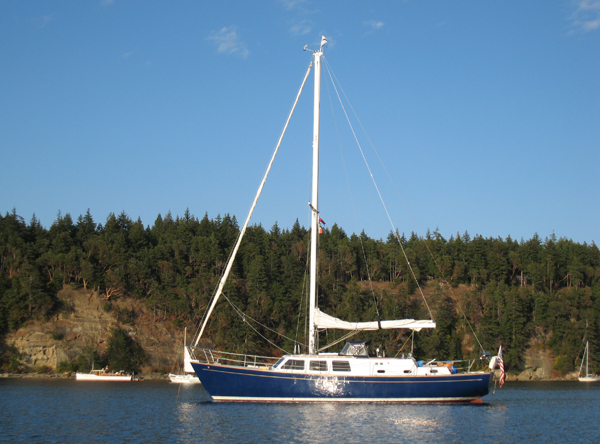 in Tribune Bay, Hornby Island, headed south