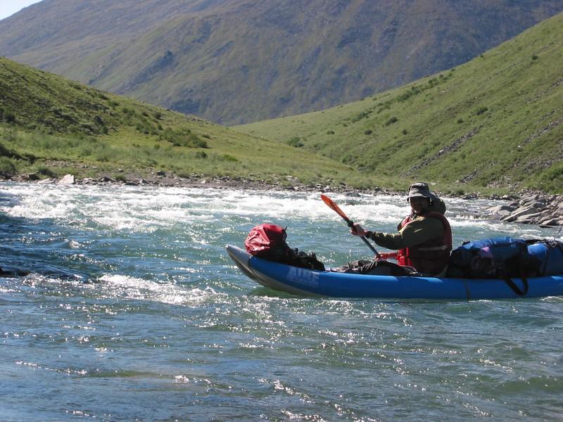 Paul enjoying the paddling