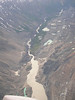 Flying over the Tatshenshini river and Turnback canyon.