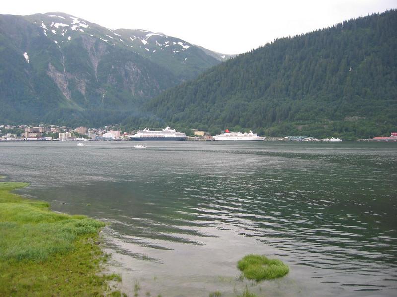 View of Juneau from MichaelÆs friendÆs place.