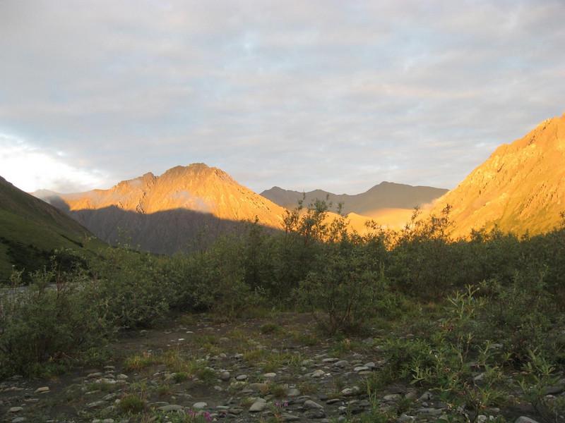 3am sunlit views around camp