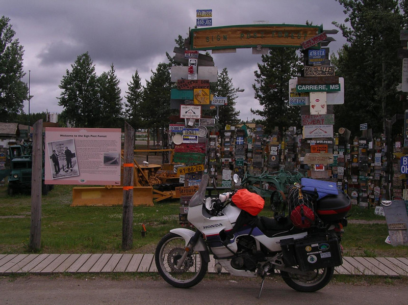 Watson Lake provides a must stop at the signpost forest where thousands of travelers have posted their signs over the years.