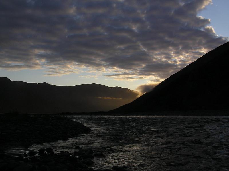 3:30am sunlit views around camp