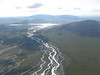 Flying up the Sheenjek out of Fort Yukon.
