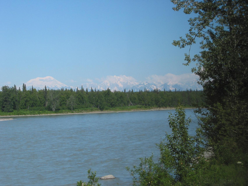 Denali views from the train ride.