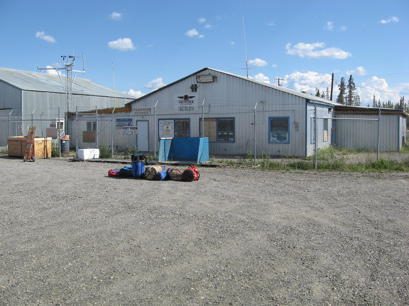 The extensive and modern airport services in Fort Yukon.